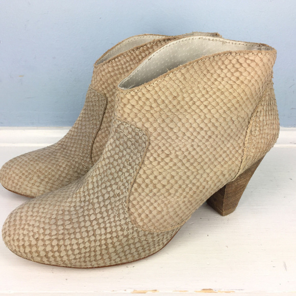 5107662f3ff1 Anthropologie Shoes | Sixtyseven Brown Snake Skin Ankle Boots 37 ...